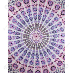 Boho Geometric Pattern Carpet Mat Sleeping Blanket Tapestry (M Mandala10)