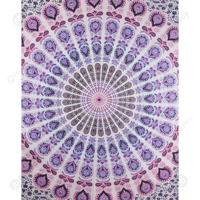 Boho Geometric Pattern Carpet Mat Sleeping Blanket Tapestry (L Mandala10)