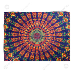 Geometric Printing Carpet Sleeping Blanket Tapestry (Mandala16 150x130cm)