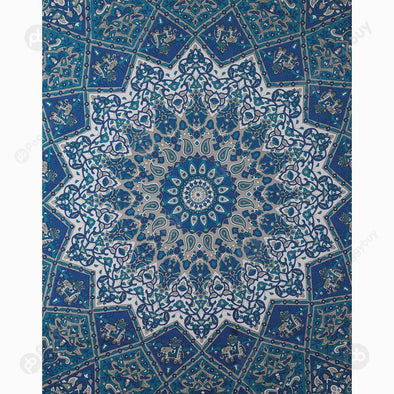 Geometric Printing Carpet Sleeping Blanket Tapestry (Mandala17 150x130cm)