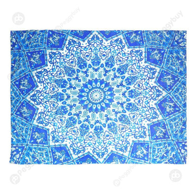 Geometric Printing Carpet Sleeping Blanket Tapestry (Mandala17 200x150cm)