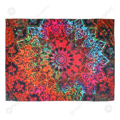 Geometric Printing Carpet Sleeping Blanket Tapestry (Mandala18 200x150cm)