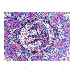 Geometric Printing Carpet Sleeping Blanket Tapestry (Mandala19 200x150cm)