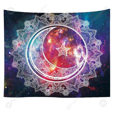 Hanging Wall Tapestry Printed Blanket Yoga Mat Home Art Decor (Style2 M)