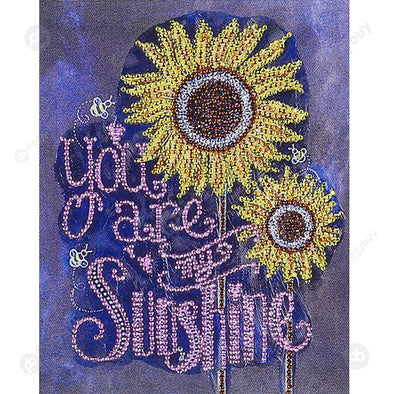 30*25CM Special Shaped Diamond Painting-Sunflower