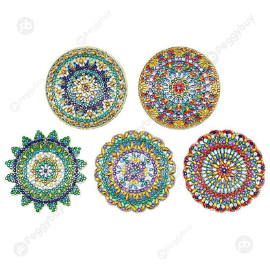 5pcs Mandala Pattern-DIY Creative Diamond Keychain