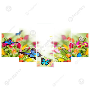 95*45CM Multi-picture Diamond Painting-5pcs Butterfly