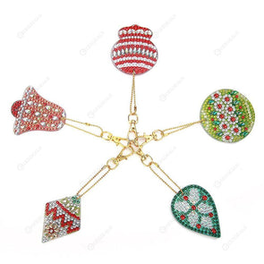 5pcs Christmas Bells-DIY Creative Diamond Keychain
