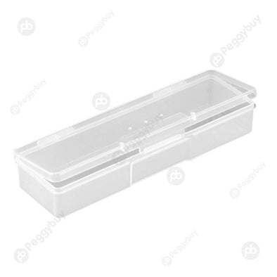 Plastic Nail Art Accessories Storage Box Translucent Decor Organizer Case