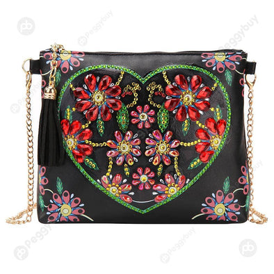 Heart Flower-DIY Creative Diamond Wristlet Bag