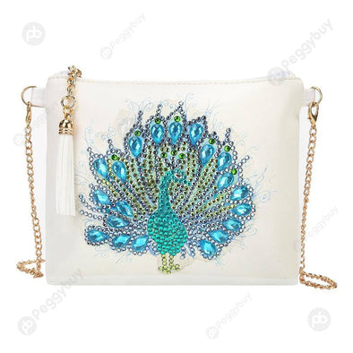 Peafowl-DIY Creative Diamond Wristlet Bag