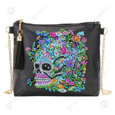 Skull Flower-DIY Creative Diamond Wristlet Bag