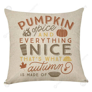 Pumpkin Square Pillow Case Cushion Cover Pillowslip Halloween Decor (1)