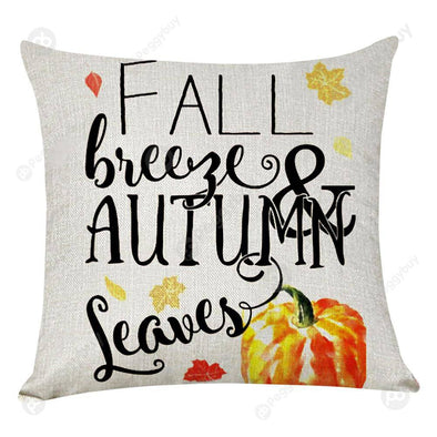 Pumpkin Square Pillow Case Cushion Cover Pillowslip Halloween Decor (4)