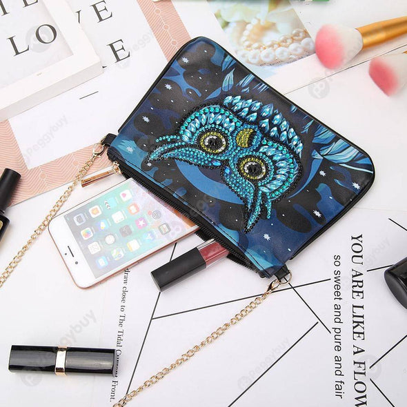 Owl-DIY Creative Diamond Wristlet Bag