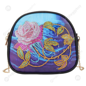 Flower-DIY Creative Diamond Wristlet Bag