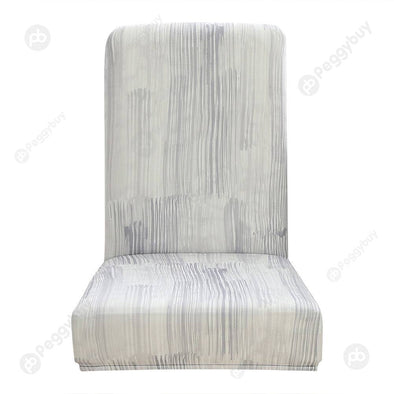 Striped Printed Stretch Chair Cover Restaurant Elastic Seat Covers (1pc)