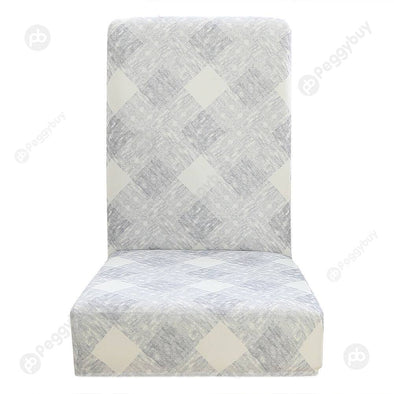 Plaid Printed Stretch Chair Cover Thin Elastic Seat Covers for Hotel (1pc)
