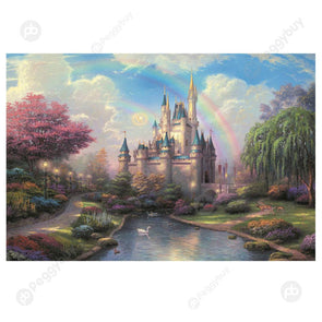 1000pcs Painting Puzzle DIY Paper Jigsaw Educational Toys (A Dream Castle)