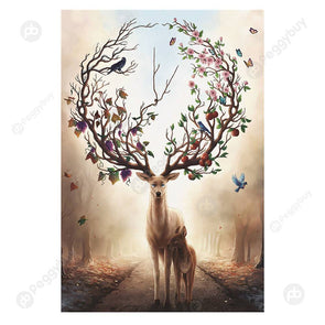 1000pcs Painting Puzzle DIY Paper Jigsaw Educational Toys (D Warm Elk)
