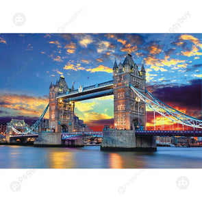 75 X 50cm 1000 Pieces Paper Jigsaw Puzzles Tower Bridge Assembling Picture