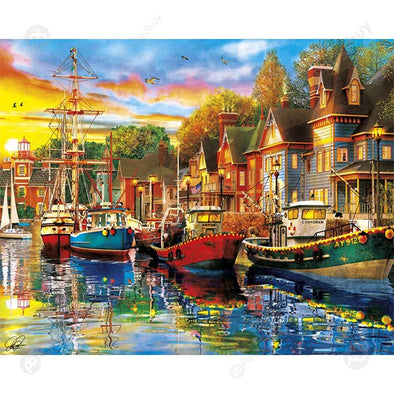 40*50CM Paint By Numbers-Boat House