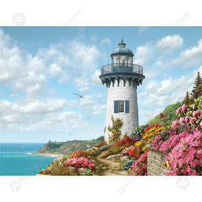 1000pcs DIY Lighthouse Picture Puzzles Educational Learning Assembling Toys