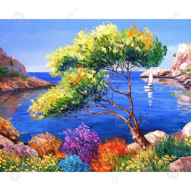 1000pcs Paper Puzzles DIY Jigsaw Sea Trees Kids Adults Educational Toy Gift