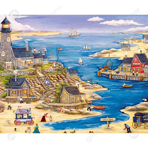 1000pcs Paper Puzzles DIY Jigsaw Sailing Harbor Kids Adult Educational Toys