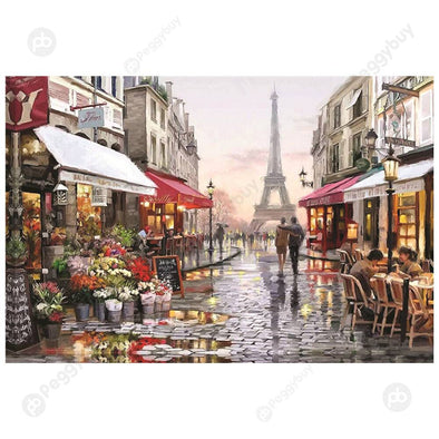 1000pcs Paper Puzzles DIY Jigsaw Eiffel Tower Flower Shop Educational Toy