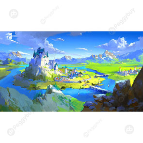 1000pcs DIY Mountain Islands Puzzle Educational Learning Assembling Toys
