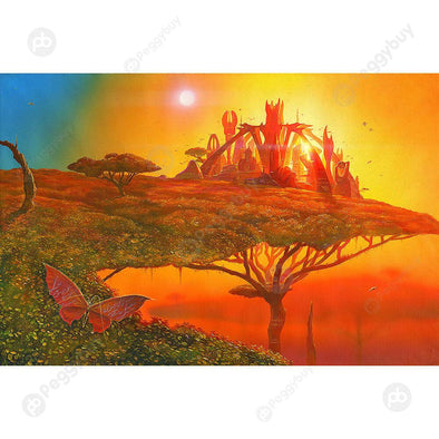 1000pcs DIY Sunset Fantastic Castle Puzzle Educational Learning Jigsaw Toys