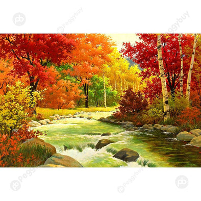 1000pcs DIY Autumn Tree Paper Puzzles Adult Kids Jigsaw Educational Toy