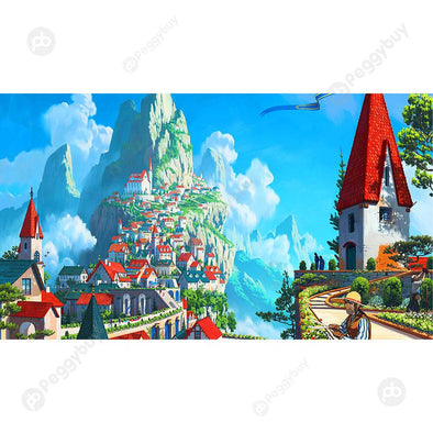 Mountain Town Scenery Puzzle Educational Toys 1000 Piece Paper Jigsaw Gift