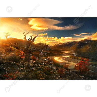 1000 Pieces DIY Assembling Sunset Scenery Puzzles Educational Toys Gifts