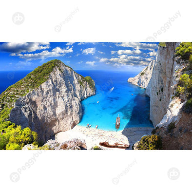 Paper Puzzles 1000pcs Zakynthos Beach DIY Assemble Adult Kids Jigsaw Toys