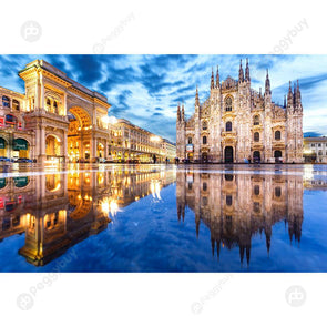 Paper Puzzle 1000pcs Milan Cathedral Assemble Picture Adult Kids Jigsaw Toy