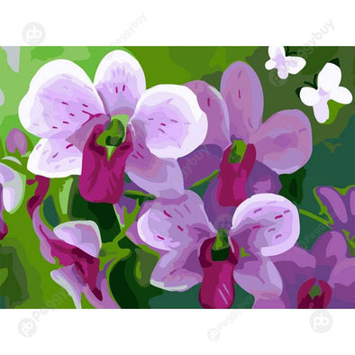 40*50CM Paint By Numbers-Purple Flowers