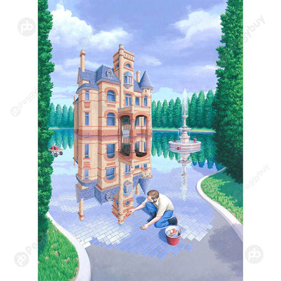 DIY River House Picture Puzzles 1000pcs Kids Adult Educational Jigsaw Toys