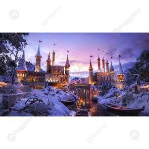 1000pcs Snow Castle DIY Puzzle Paper Jigsaw Kids Adults Assembling Picture