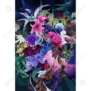 1000 Pieces DIY Fantastic Flower Puzzle Educational Learning Assembling Toy