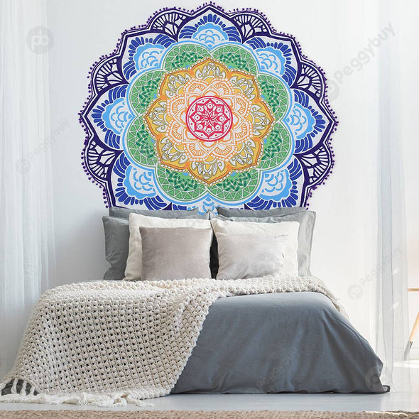130 X 130cm Round Mandala Tassels Tapestry Wall Hang Carpet Beach Mat (4)