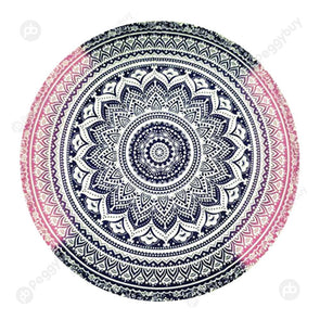 140 X 140cm Round Mandala Tapestry Wall Hanging Carpet Beach Yoga Mat (1)