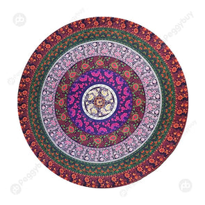 140 X 140cm Round Mandala Tapestry Wall Hanging Carpet Beach Yoga Mat (2)