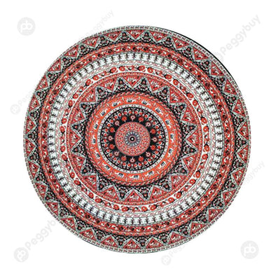 140 X 140cm Round Mandala Tapestry Wall Hanging Carpet Beach Yoga Mat (3)