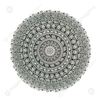 140 X 140cm Round Mandala Tapestry Wall Hanging Carpet Beach Yoga Mat (4)