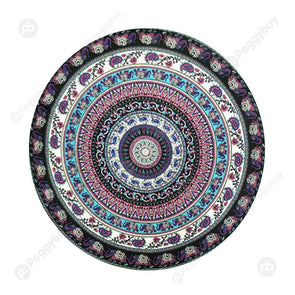 140 X 140cm Round Mandala Tapestry Wall Hanging Carpet Beach Yoga Mat (6)
