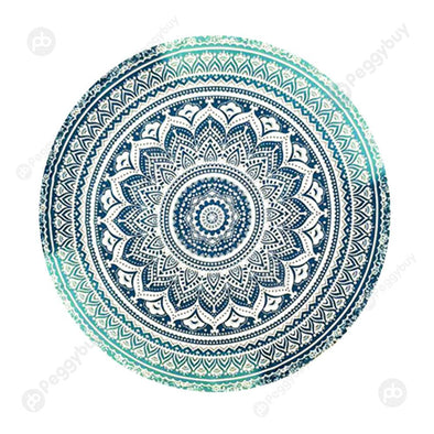 140 X 140cm Round Mandala Tapestry Wall Hanging Carpet Beach Yoga Mat (8)