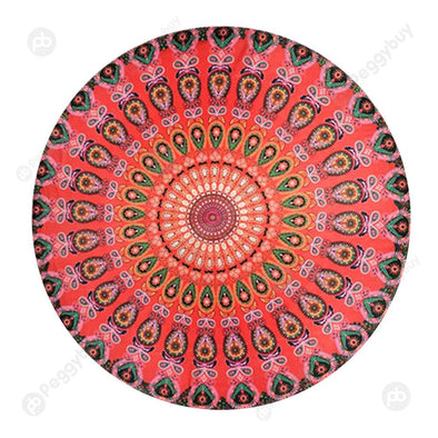 140 X 140cm Round Meditation Wall Tapestry Carpet Beach Yoga Mat (1)