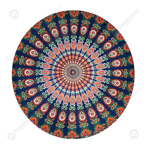 140 X 140cm Round Meditation Wall Tapestry Carpet Beach Yoga Mat (5)